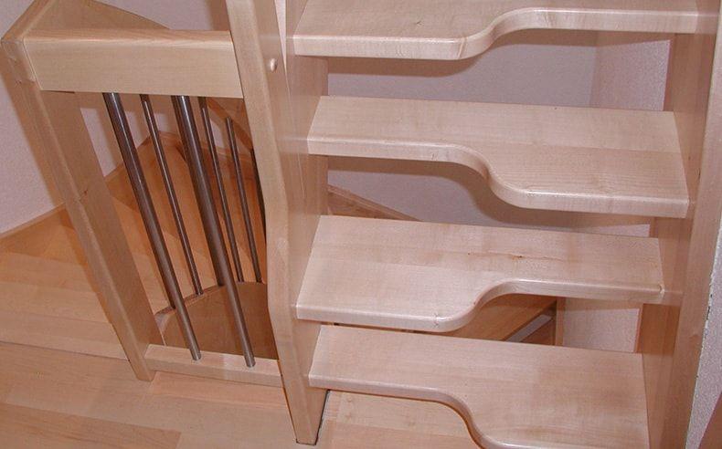 raumspartreppen von fhs treppen treppenhersteller f r. Black Bedroom Furniture Sets. Home Design Ideas